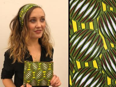 Green headband and purse