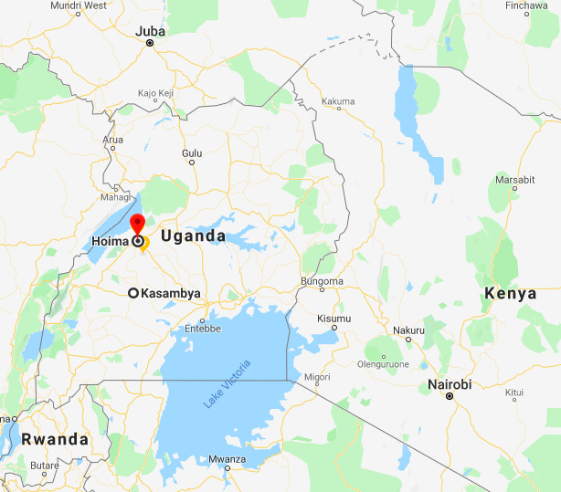 Map of Uganda